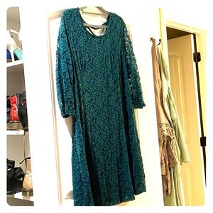 Maurices green lace dress